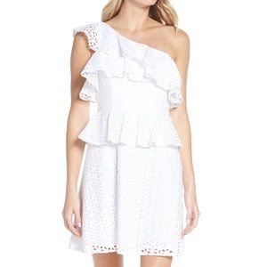 Lilly Pulitzer Josey One Shoulder Dress Sz 4 H21
